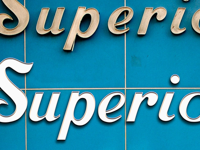 Recreating the Superior Sewing Machines logo font retro typography mid century modern