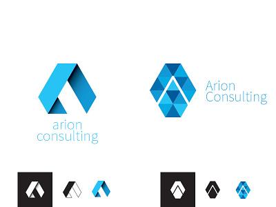 Arion Consulting logo exploration exploration blue technology logos