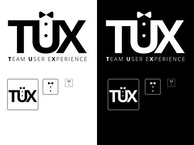 Team UX logo black and white internal branding user experience branding ux logo