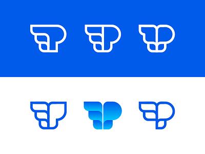 Promo - Logo concept design logo b2b webshop shop monogram wings p product promotion promo