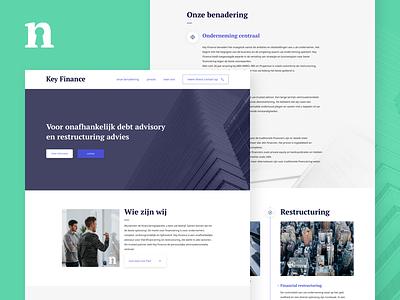 Key Finance - Website design design web investment money restructure advice financial website finance key