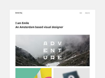 Portfolio website case showcase amsterdam emile branding design web portfolio website