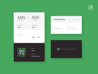 MOIJ Business card & boarding pass