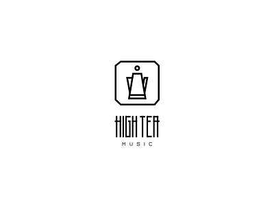 High Tea Music - Logo redesign illustration teapot rebrand rebranding music label record brand tea high tea