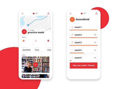 Walking routes - App concept walk health iphone application design ui ux app stroll trip walking