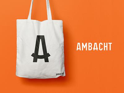 Ambacht - Tote bag mark design logo bag tote monogram a branding brand platform craft ambacht