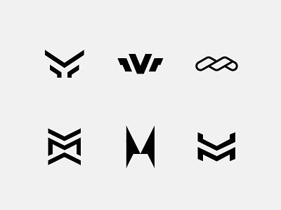 M monogram - Logo concepts producer music dj abstract type brand design concept logo monogram m