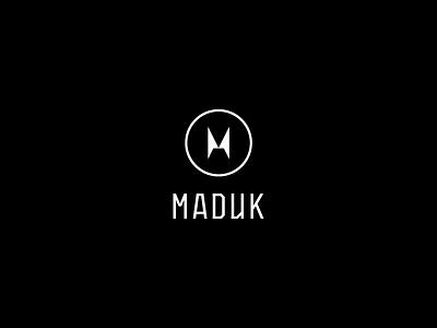 Maduk - Logo contest submittion music dj brand dnb drum  bass liquicity typography design logo maduk