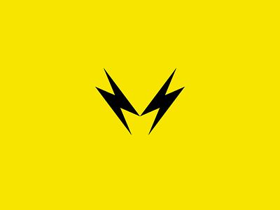 M monogram - Logo concept music concept electricity logo monogram