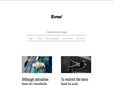 Evoo blogger travel blog fashion mini clean wordpress marketplace minimal