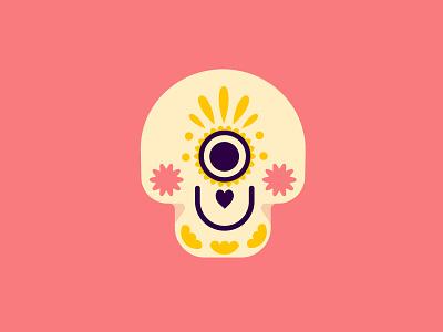 Eye Heart U : Sweet Skull illustration skull halloween day of the dead eye heart u beary much eyeheartubearymuch