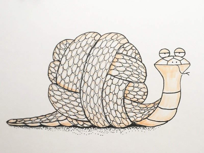 Knot again! knot snake inktober