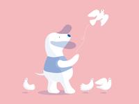 Dog & Doves