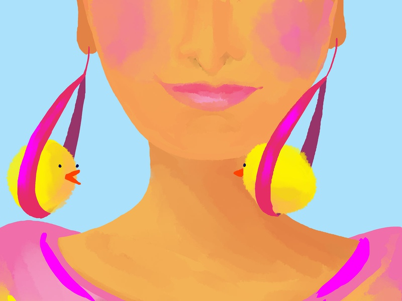 Swinging Chicks woman fashion chicken