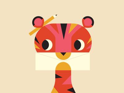 Tiger has a pen pal