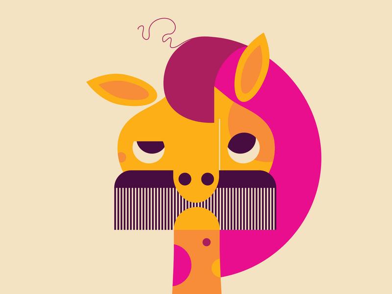One Unruly Lock herringhaggis comb bad hair horse
