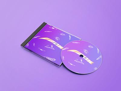 "CD-Cover ""LOOK"" look eye purple trippy cd albumcover music photoshop adobe design graphic design illustration"