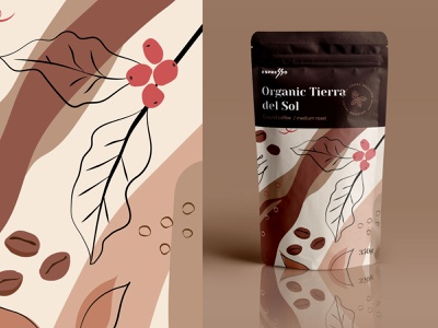Coffee packaging espresso packaging package illustration coffee doy-pack