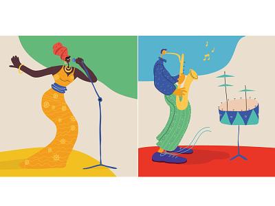 Kaliningrad City Jazz festival festival music jazz city girl illustration