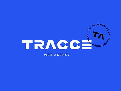 Tracce. Logo web agency creative agency web logotype logo