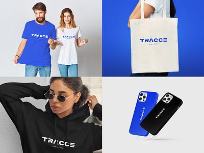 Tracce. Logo web agency hoody tshirt cover bag clothes logo