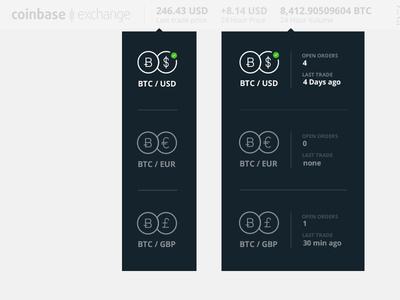 Dropdown selector/widget