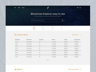 Block Explorer Experiment cryptocurrency landing page blockchain exchange bitcoin