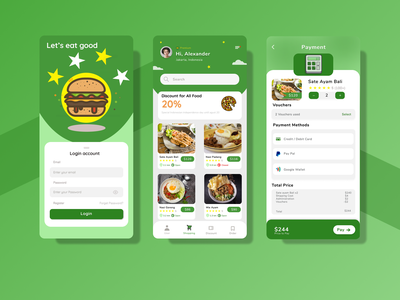 Food Online Shop food shoop mobile app design ux ui