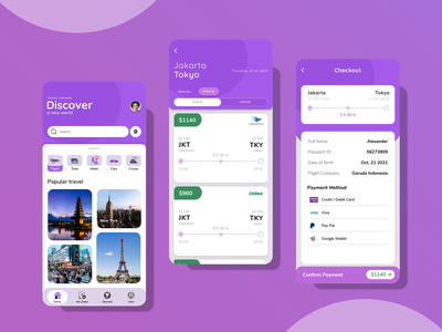 Travel Design mobile vacation ux travelers ui
