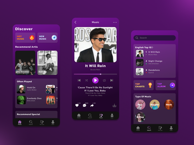 Music App designer musicplayer music mobile app ux ui