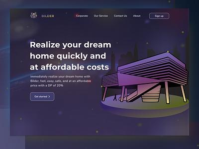 Bilder dream house website app house design branding website ux 3d ui