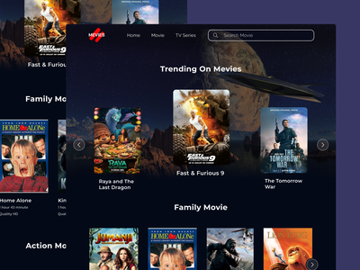 Mevies Web app movies webdesign branding ux ui