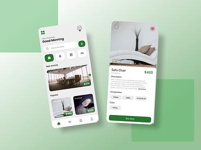 Furniture App Design shop design furniture mobile app ux ui