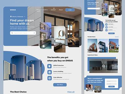 DHOUS Website building website design ux ui