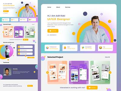 Portofolio Web service web design portofolio website ux ui