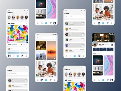 SMOED Mobile app branding social media mobile app ux ui
