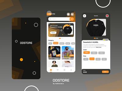 ODSTORE - Fashion Store odama odamastudio challange mobile app design challange odama challange branding ui