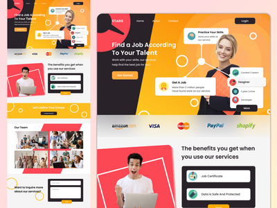 STARG - Website talent job branding web designwebsite landingpage website ux ui