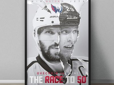 Alex Ovechkin/Patrik Laine Poster Design