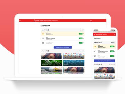 Dashboard/Home e-Learning Web App