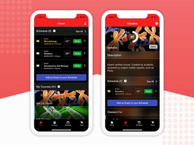 Dashboard/Home e-Learning Mobile App