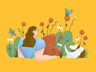 Spring time ❤️ dog flowers spring dtiys