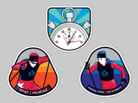 Track Attack Ski Badges
