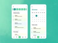 Calendar Task Manager UI Design