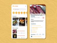 Recipes chef food app UX UI Design