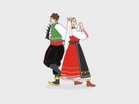 Bulgarian Traditional Dancers