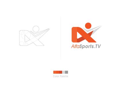 Re-design - Logo flat sports alphasports branding logo