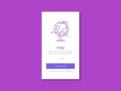 Translate globus application sign up phone translate illustration ui