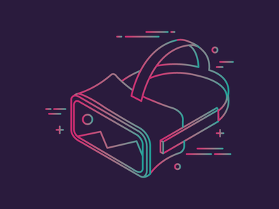 Virtual Reality neon illustration virtual reality vr