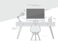 Desk illustration